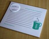 Measuring Cup - Recipe for Good Measure - Handmade Recipe Cards - Set of 5