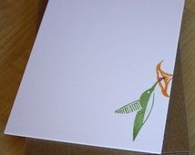 Hummingbird Note Cards - Birds - Handmade Stationery - Set of 6