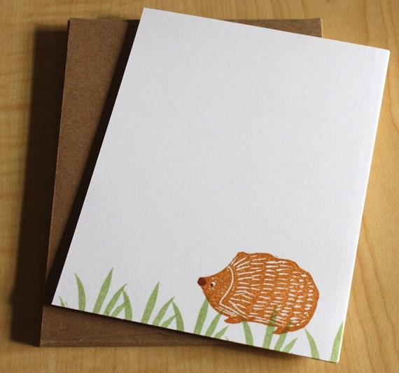 Hedgehog - Handmade Stationery - Set of 6