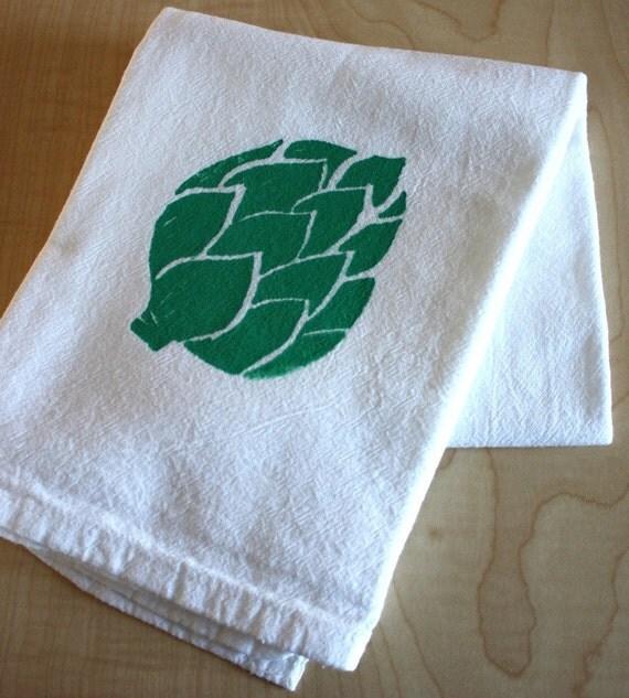 Artichoke - Hand Screen Printed - Flour Sack Towel