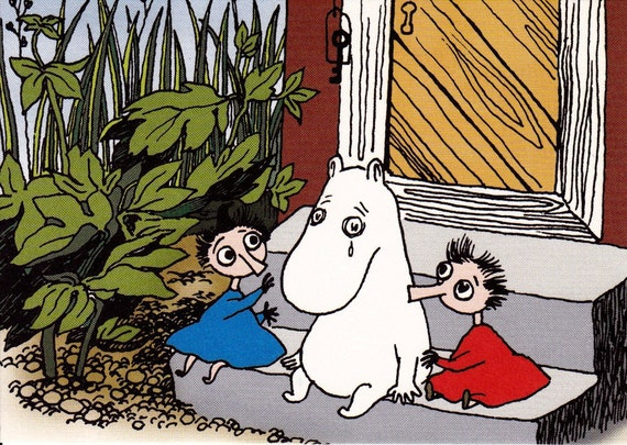 LAST ONE Moomin Postcard no.3 Muumi