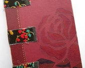 Literary Rose Stitched Art Journal