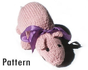PDF Pattern - Patricia the Piggy - Knitting and Crochet