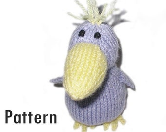 PDF Pattern - Ferdinand the Raven - Knitting and Crochet