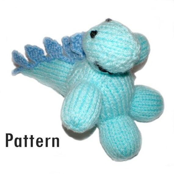 Dorothy Dinosaur Knitting Pattern : PDF Pattern Dorothy Stegosaurus Knitting and Crochet