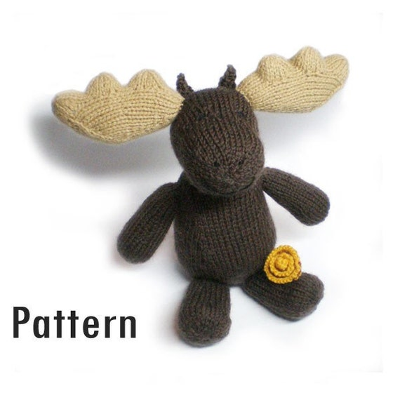 PDF Pattern - Marigold the Moose - Knitting