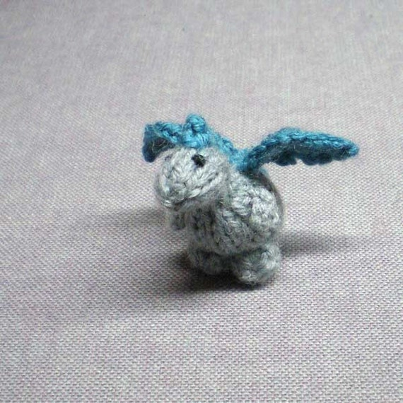 Tiny Lukas the Dragon - Knitted and Crocheted