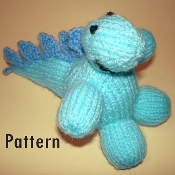 Knitting/Crochet PDF Pattern Dorothy Stegosaurus