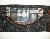 ITEM RESERVED 5\/18\/09 - Clutch by Tuff Betty Bags -  Deadly Double-Cross in Spider Web Felt
