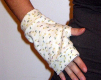 Yellow Safety Pins Wrist Warmers