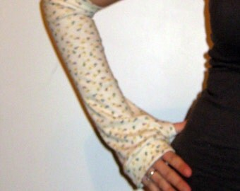 Light Yellow Safety Pin Arm Warmers