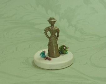 Dollhouse Miniature Victorian Lady Figurine