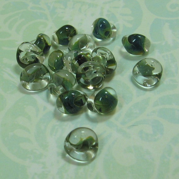 Shades of Teal Boro Glass Beads/Drops