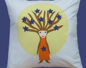 Stars In Her Hair 16 inch Pillow Cover series W