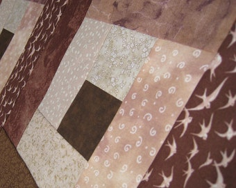 Tablerunner Earth Brown and Beige Half-Size