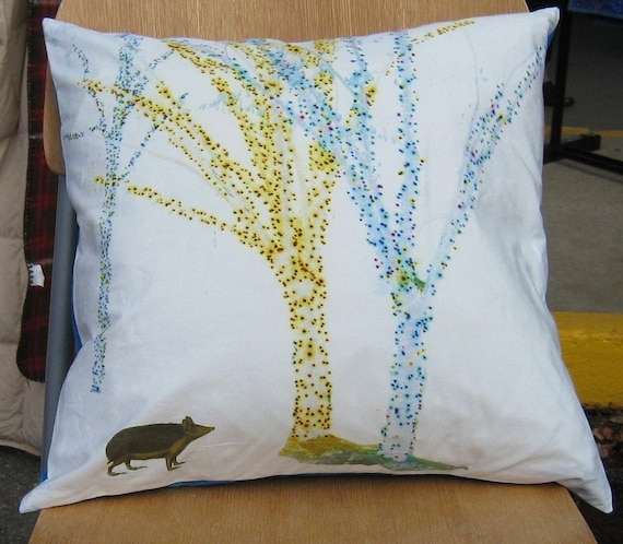 Hedgie Seeks True Love 16 inch Pillow Cover