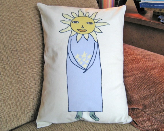 Sun Woman Pillow Cover 12 by 16 inch series W