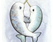 Narwhal Love Print