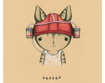 Nascar Cat Print