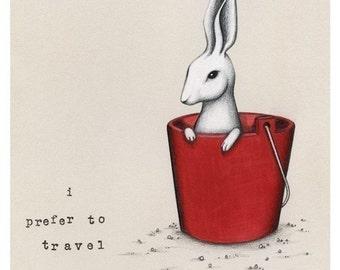 Travel by Bucket Print