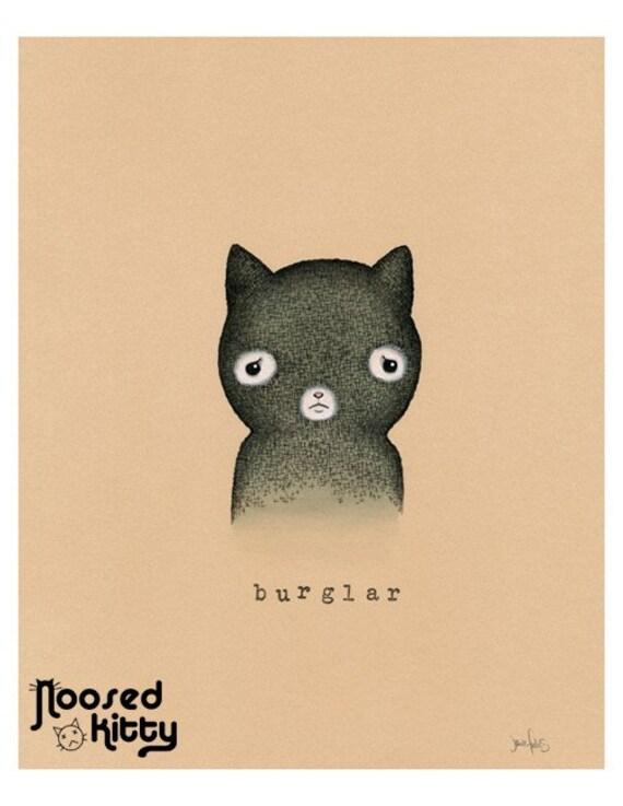 Cat Burglar Print