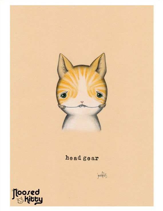 Headgear Cat Print