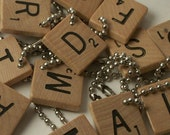 Set of 5 Scrabble Wine Charms