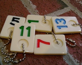 5 Rummy Game Piece Wine Charms