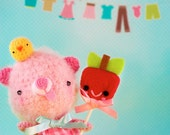 Little Bear with an Apple Lollipop