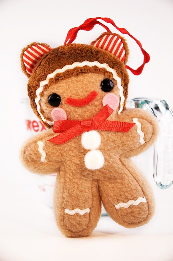 Teddy Bear Gingerbread Man Ornament