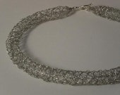 Silver Fragility necklace