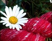 Partridgeberry Glimmer - Handspun Yarn - Wool & Glitz - 331 yards
