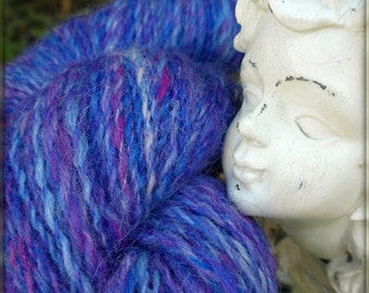 Lupines in the Goulds - Handspun Yarn - Wool - 249 yards