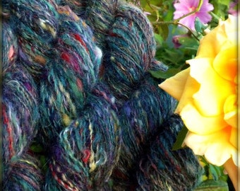 Rainbow Junkies - Handspun Yarn - Wool, Mohair, Alpaca - 652 yards