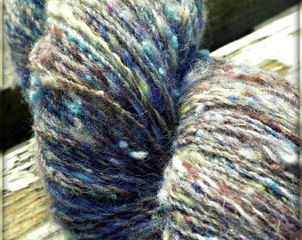 Mystery Girl - Handspun Yarn - Wool, Mohair, Silk - 420 yards