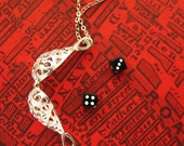 Lucky Fortune Telling Dice Silver Egg Charm Necklace from Hoolala