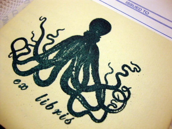 Foaming Tentacular Spectacular Library Cards and Pockets