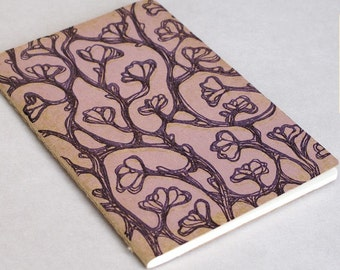 Purple Magnolias Moleskine . Pocket . Ruled