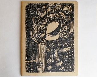Imaginary Friend Moleskine . XL Extra Large Cahier . Plain Pages
