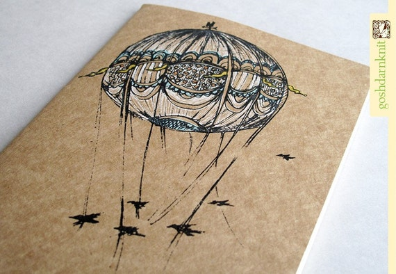 Bridges and Balloons Moleskine Cahier . Large Notebook . Plain