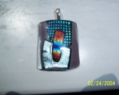 LILAC AND RAINBOWS DICHROIC PENDANT