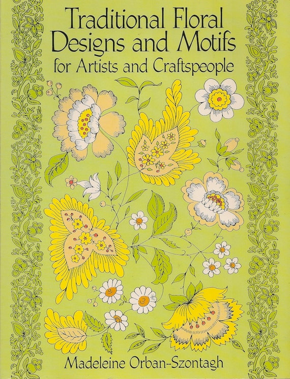 SALE CLIP ART Book Traditional Floral Designs and Motifs for Artists and Craftspeople