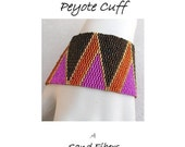 3 for 2 Program - Opposing Triangles Peyote Cuff  (in 3 widths) - For Personal Use Only PDF Pattern