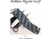 Peyote Pattern - Two Color Bargello Ribbon Peyote Cuff / Peyote Bracelet - A Sand Fibers For Personal Use Only PDF Pattern - 3 for 2