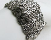 Corrugated Steel Peyote Cuff (2530) - Reserved for Jan