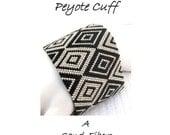 Peyote Pattern - Cubism Diamonds Peyote Cuff / Peyote Bracelet  - A Sand Fibers For Personal Use Only PDF Pattern - 3 for 2