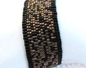 Elegant Black, Copper, and Bronze Bracelet (2056)
