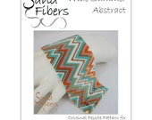 Peyote Pattern - Wide Summer Abstract Cuff / Bracelet - A Sand Fibers For Personal/Commercial Use PDF Pattern