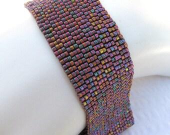 Ready for Rhubarb Peyote Cuff Bracelet (787)