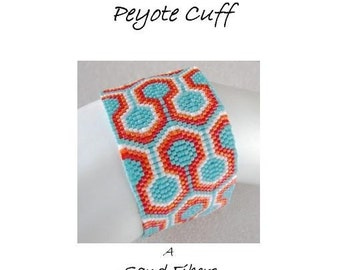 3 for 2 Program - Interlock Peyote Cuff - For Personal Use Only PDF Pattern